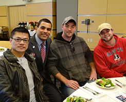 men at a veterans and military event
