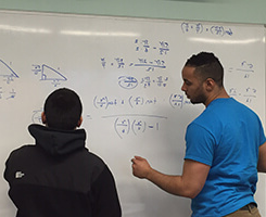 a tutor teaching a student